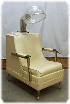 Helene Curtis Her Highness Retro Hair Dryer Chair Vintage Salon Beauty Parlor | eBay