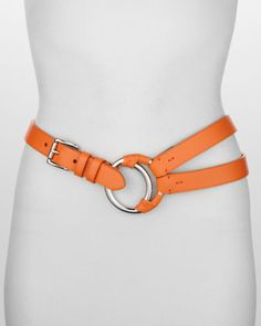 Crescent O-Ring Tri-Strap Belt by Ralph Lauren at Bergdorf Goodman. $295