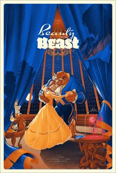 Beauty and the Beast - Mondo Disney Posters (see all 7 at the link)