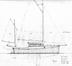 Trailerable Houseboat Plans | ... plywood trailerable motorsailer~ Small Boat Designs by Tad Roberts