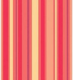 Papel de parede com listras em tons de vermelho, amarelo, roxo e bege - Listrado 48