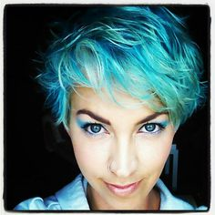 blue, turquoise, teal, pastel blue, ocean, sea punk, hair, short hair