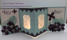 Happy Stampers: Spring & Summer Sunday, Lantern Card using Botanic...