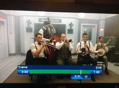 12/15/13 episode of Treme on HBO featuring a scene shot in Gennett Records Studio