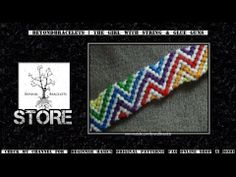 ► Friendship Bracelet Tutorial 56 - Intermediate - Rainbow ZigZag