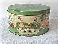 Vintage 1930s Hard Candy Tin by LUDEN'S  Inc.