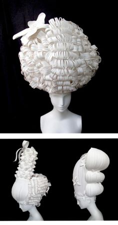 Stunning paper hair by Nikki Salk and Amy Flurry