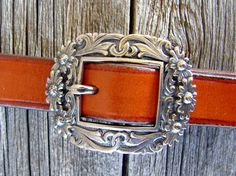 3/4 Floral Buckle by RockinOutDesigns on Etsy (Made in Texas)