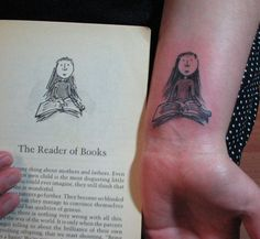 Quentin Blake illustration of Roald Dahl's Matilda tattoo ...