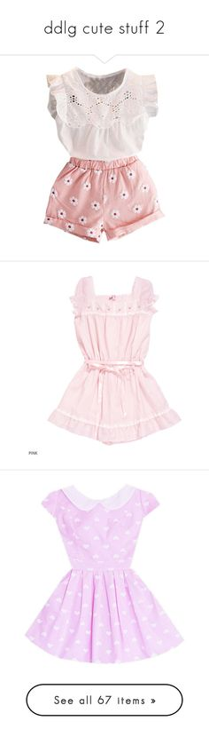 """ddlg cute stuff 2"" by fatallylovely ❤ liked on Polyvore featuring baby, dresses, clothing - sl dresses, violet dress, pink dress, pink puffy dress, puffy dresses, puff dress, vintage day dress and vintage pleated dress"