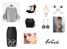 """""""Work #2"""" by itsabitah on Polyvore featuring Christian Louboutin, Lacoste, Olivia Burton and Dyrberg/Kern"""