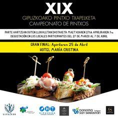Un año más podrás participar en el Campeonato de pintxos de Gipuzkoa, organizada por la Asociación de Barmans ,en el Hotel Maria Cristina, San Sebastián  Toda la info, pinchando sobre la imagen.