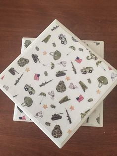 Army coasters military coasters ceramic tile by KCstylejewelry