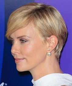 charlize theron short hair from the back - Google Search