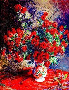 Claude Monet, Red Chrysanthemums, 1881