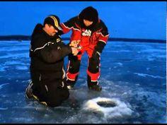 Ice fishing on Lake Erie.