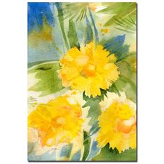 Trademark Art 'Wild Flowers' by Sheila Golden Painting Print on Canvas Canvas Art Prints, Painting Prints, Flower Canvas Art, Floral Theme, Art Reproductions, Online Art Gallery, Wrapped Canvas, Wild Flowers, Art Pieces