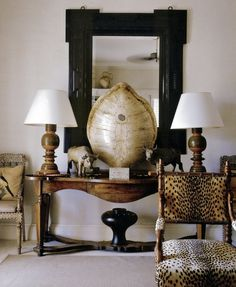 British Colonial Style - Love the chair!!