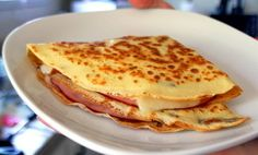 French Ham, Cheese and Egg Crepes