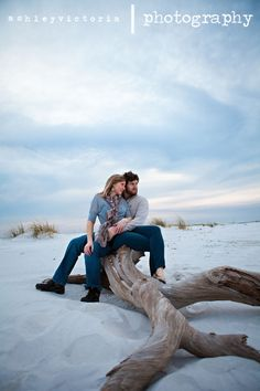 Destin Ft Walton Beach Driftwood Engagement Session | View more from this session here: http://www.ashleyvictoriaphotographyblog.com/2011/12/22/dustin-and-teresa-are-tying-the-knot-ft-walton-beach-engagement-session/