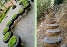 1000 id es sur le th me vieux pneus sur pinterest pneus recycl s r utiliser de vieux pneus et - Decoration jardin avec des pneus ...