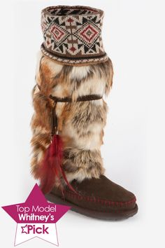 muk luks Lola Tall Faux Fur Boot In Brown - Beyond the Rack. I would sooooo wear these!