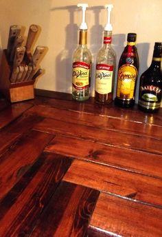 2x4 kitchen countertops. This entire DIY kitchen redo is on MamasGotAChainsaw.com
