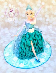 Elsa Doll Cake - Cake by Cups-N-Cakes
