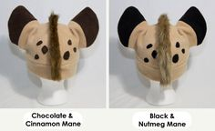 Spotted Hyena Hat Realistic With Mane by CuteKick on Etsy