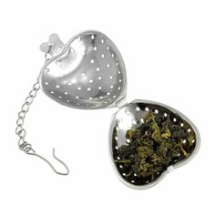 GOOTRADES Stainless Steel Heart Shaped Tea Infuser Strainer Filter Herb Steeper Hook (pack of 2) -- Awesome products selected by Anna Churchill