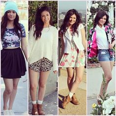 Bethany Mota-Floral print outfit ideas i love the first one and the second one