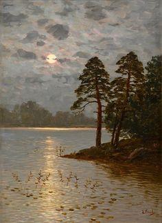 Eugen Taube (Finnish, 1860-1913): Maanlicht (geen jaartal bekend)