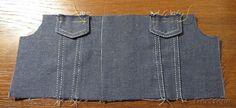 Мастер-класс по пошиву джинсовой курточки для куклы