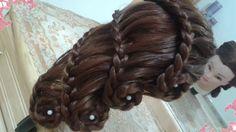 peinados sencillos faciles para cabello largo bonitos y rapidos con tren... Dreadlocks, Hair Styles, Image, Beauty, Up Dos, Braids For Girls, Beautiful Long Hair, Simple Hairstyles, Hairstyles