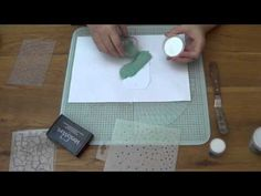 WOW! Embossing Powder Technique: Embossing with Stencils - YouTube