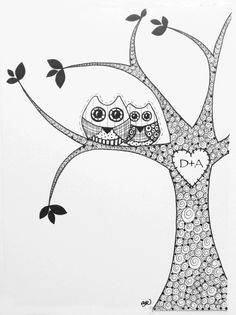 Owl Love. Personalize the heart!
