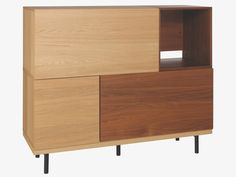 BOCKSEY BROWNS Wood Large Walnut Oak Modular Dining Cupboard