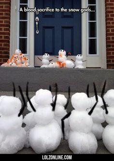 A Blood Sacrifice To The Snow Gods...#funny #lol #lolzonline