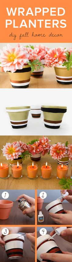 Wrapped Planters Perfect Fall DIY by Darby Smart
