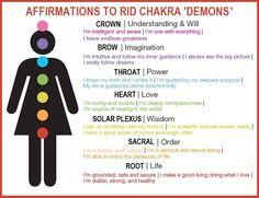 Affirmations to Rid Chakra 'Demons'
