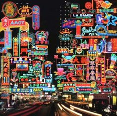 Picture This & The Tung Choi Street Neon Fantasy, 2014 City Lights At Night, Night City, Japanese Graphic Design, Vintage Graphic Design, Neon Sign Art, Neon Signs, Hong Kong Night, City Aesthetic, City Wallpaper