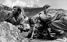 May Greek government commandos near Karpenisi, equipped with British berets and American fur-trimmed jackets. Original Publication: Picture Post - 4551 - The War For Greece - pub. 1948 (Photo by Bert Hardy/Picture Post/Getty Images) Hellenic Army, Military Photos, Views Album, Civilization, Wwii, Documentaries, Greek, History, Couple Photos