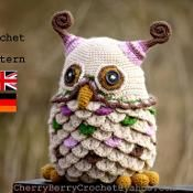 Owl toy or container PDF crochet pattern - via @Craftsy