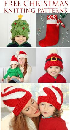 Free Christmas knitting patterns for the whole family!