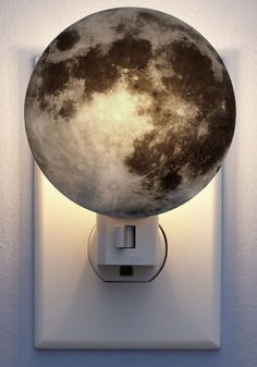 Galaxy You Later Night Light in Moon. Bring the cosmic bliss of a cloudless night into your bedroom with this moon night light by Kikkerland posted on your wall! #multi #modcloth