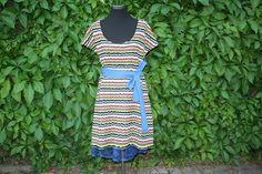 Trägerkleider - Kleid Unterrock Strick Spitze Tunika blau grün - ein…