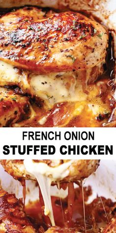 Quick Easy Meals, Easy Dinner Recipes, French Recipes Dinner, Dinner Ideas, Onion Recipes, Chicken Recipes, French Onion Chicken, Cooking Recipes, Healthy Recipes