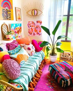 Home Decoration Interior .Home Decoration Interior Living Room Decor, Bedroom Decor, Bedroom Colors, Wall Decor, Colourful Living Room, Aesthetic Room Decor, Cheap Home Decor, Home Decor Inspiration, House Colors