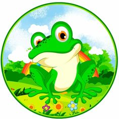 Animals In The Bible, Farm Cake, Frogs, Painted Rocks, Circles, Cute Animals, Game, Prints, Painting