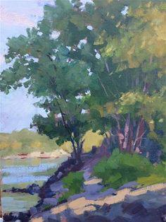 "Daily Paintworks - ""Lily dale park"" - Original Fine Art for Sale - © Patty Voje"